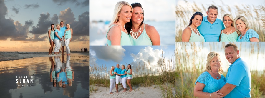 Treasure Island Family Beach Portraits by St Petersburg FL Photographer Kristen Sloan
