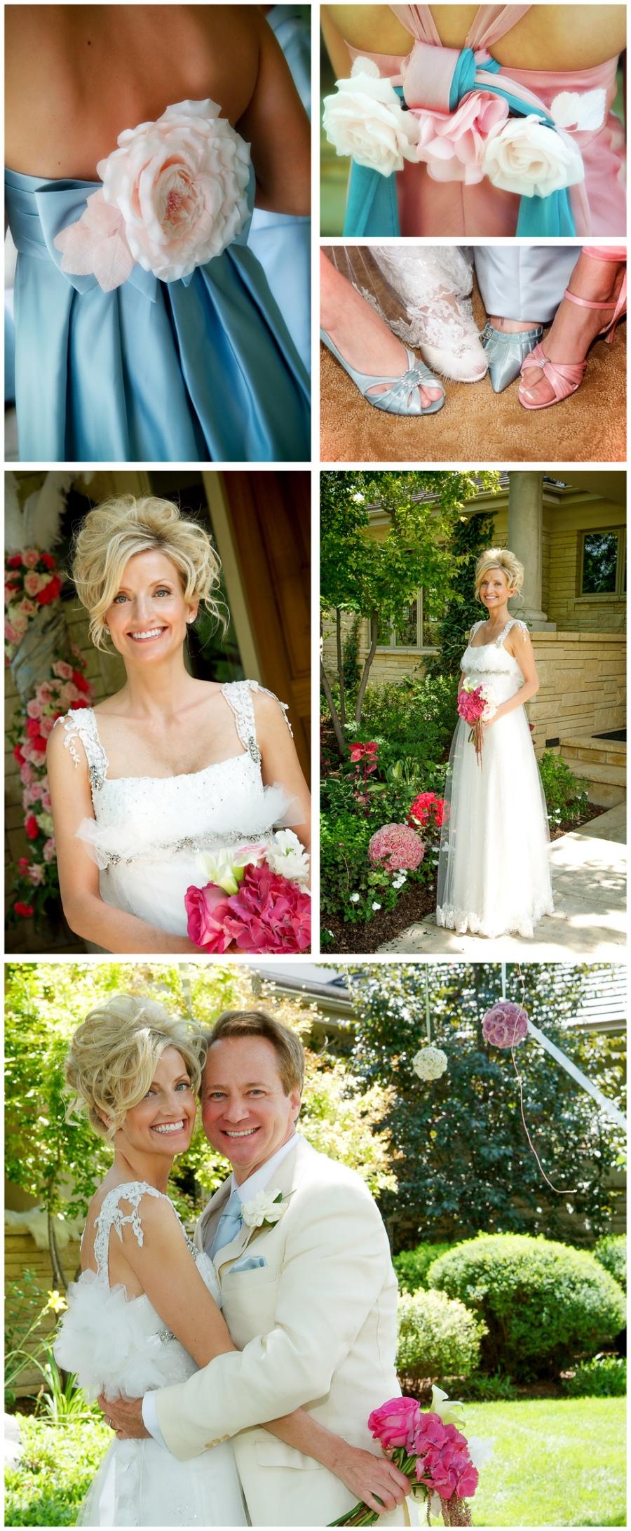 pink rose wedding flower