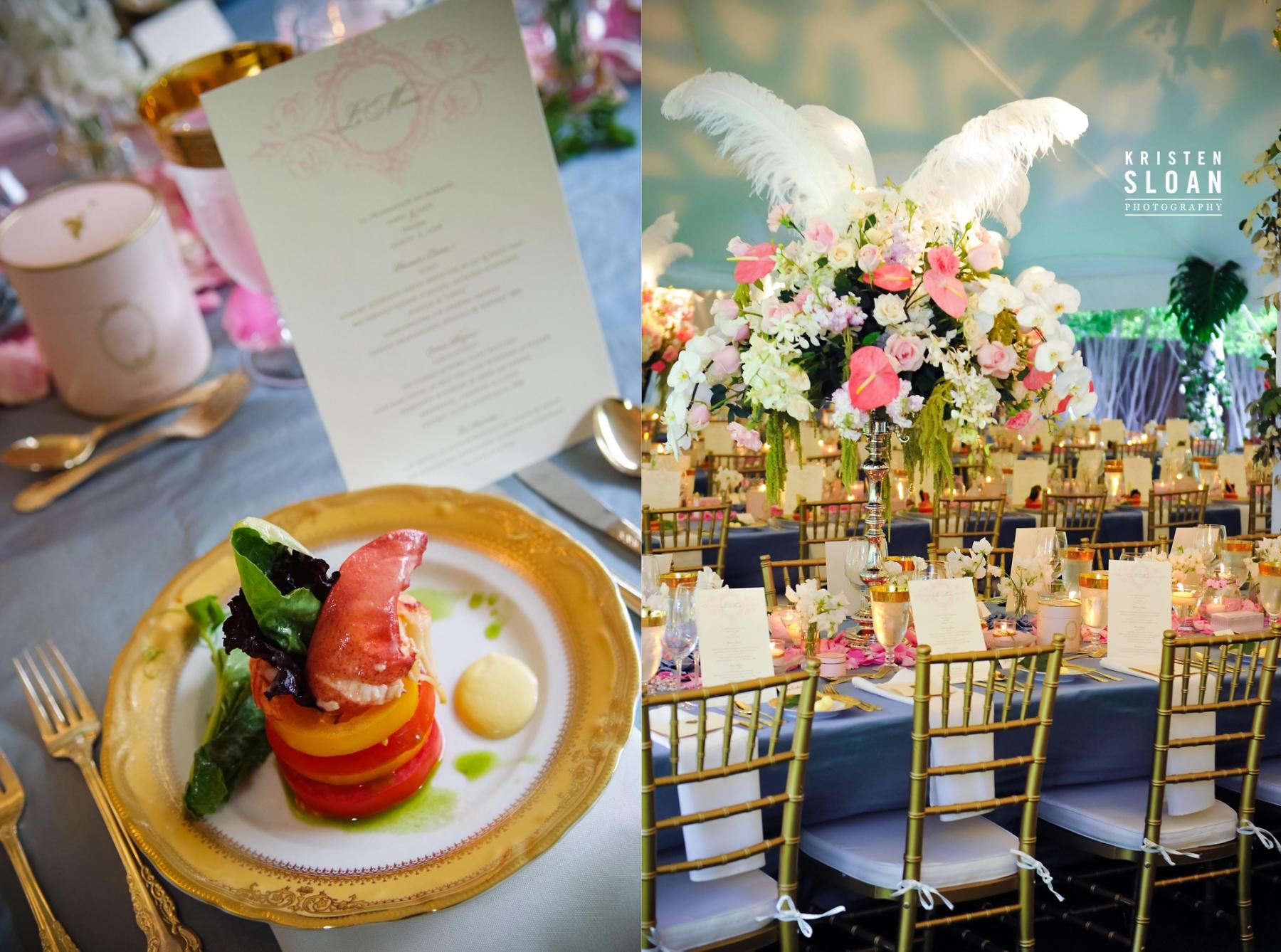 pink rose wedding french inspired wedding