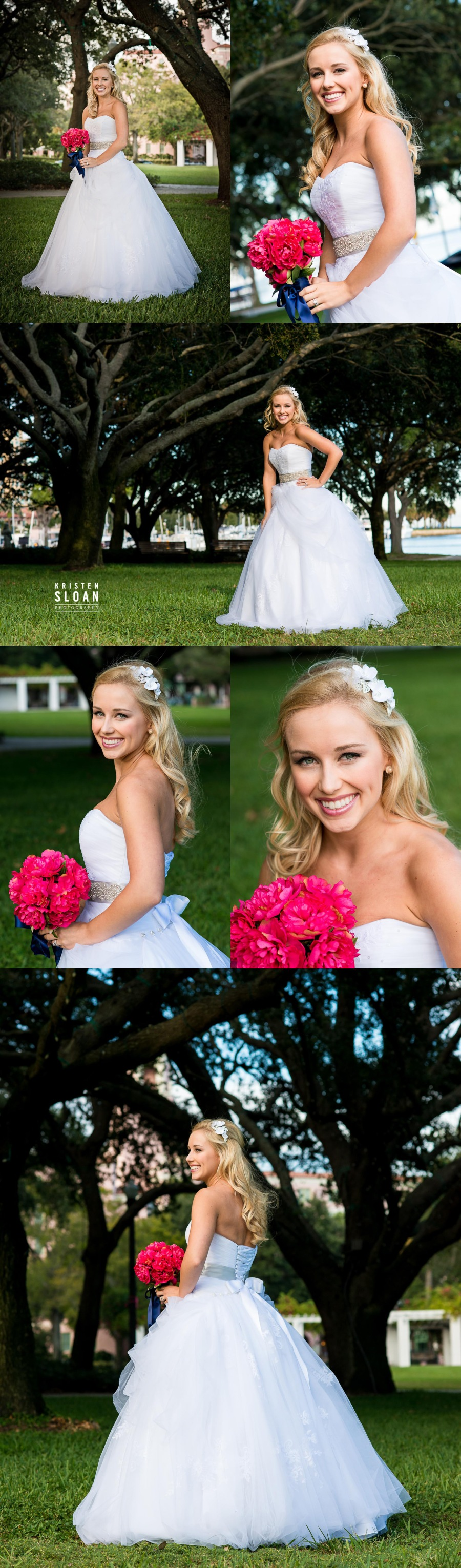 st petersburg fl bridal wedding photos