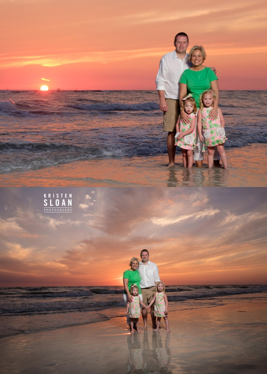sunset treasure island fl family photos