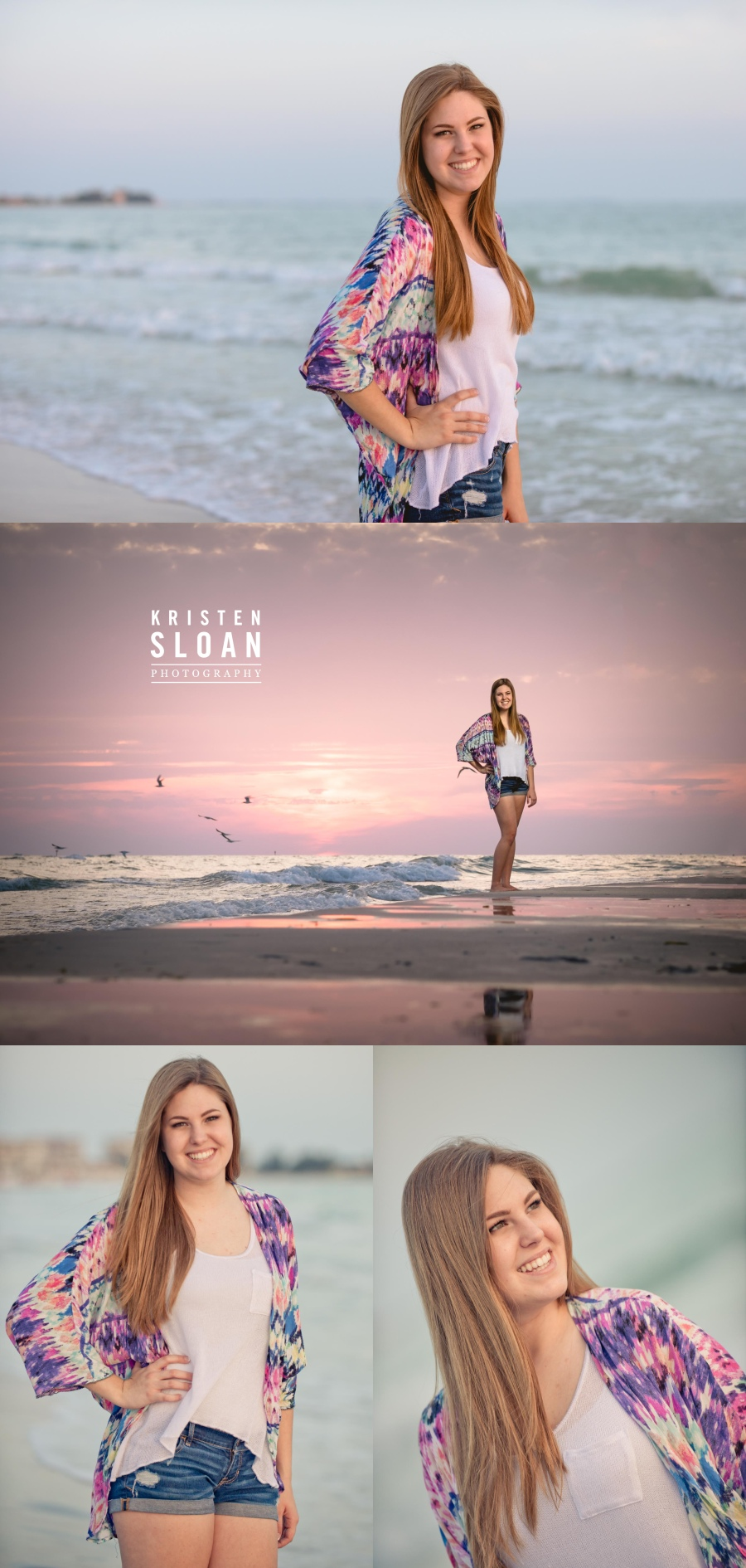 Treasure Island St Pete Beach Senior Portrait Photos by Kristen Sloan Photography