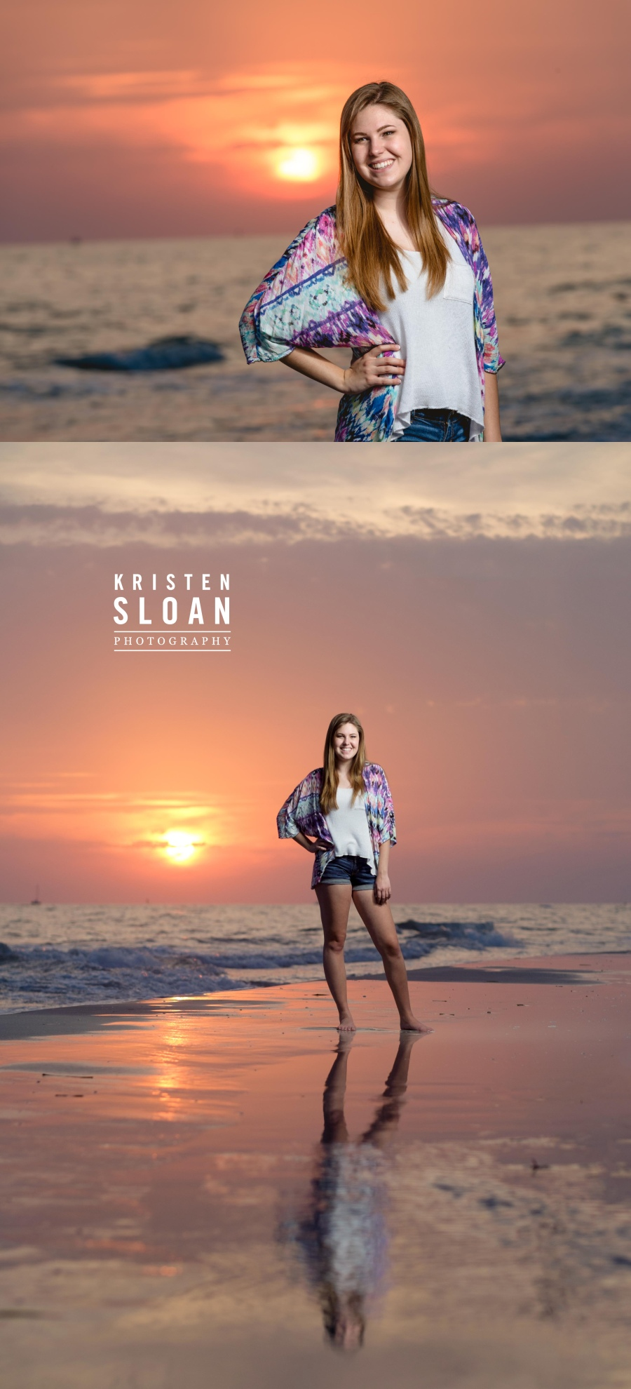 st pete fl  beach high school senior portraits photos