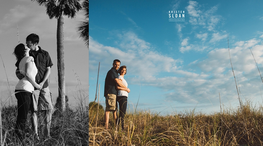 Beach Couples Engagement Portraits at Treasure Island St Pete Beach Florida by Kristen Sloan