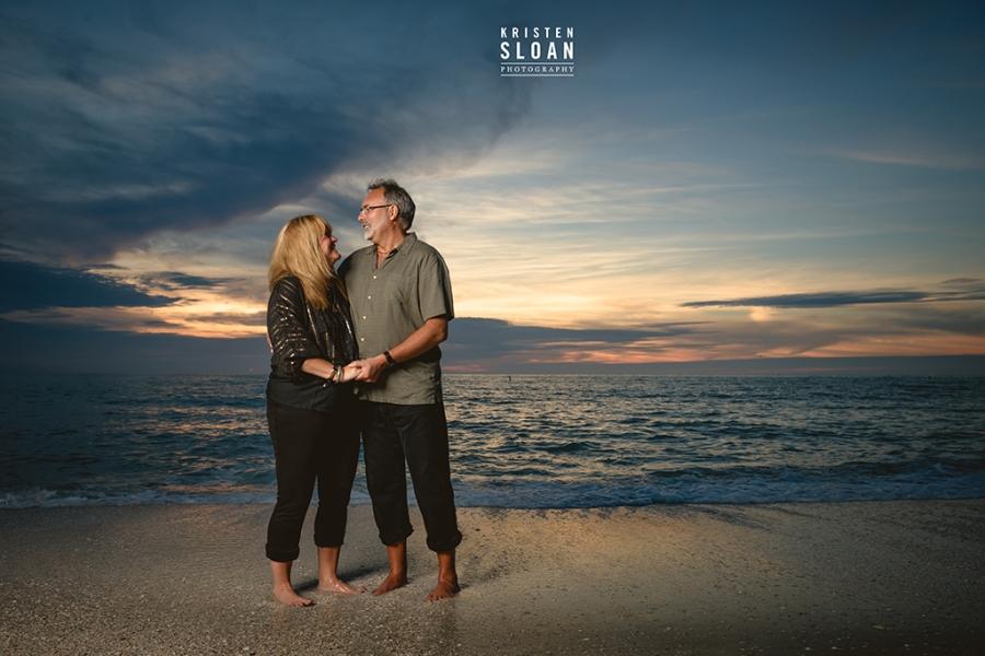 Lands End Sunset Beach St Pete Beach Family Senior Portraits by
