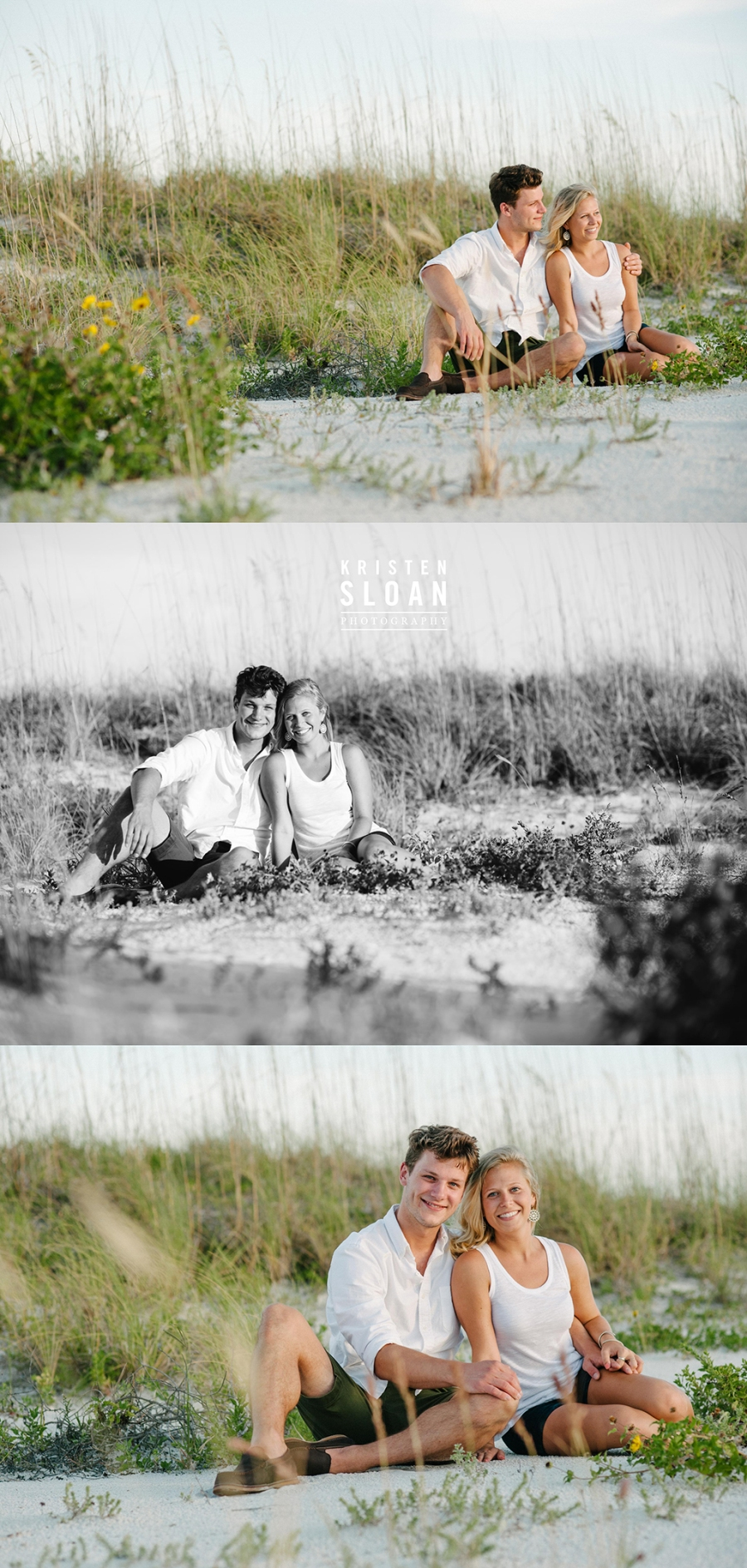 Clear Blue Skies in Treasure Island Beach Couples Portrait Session