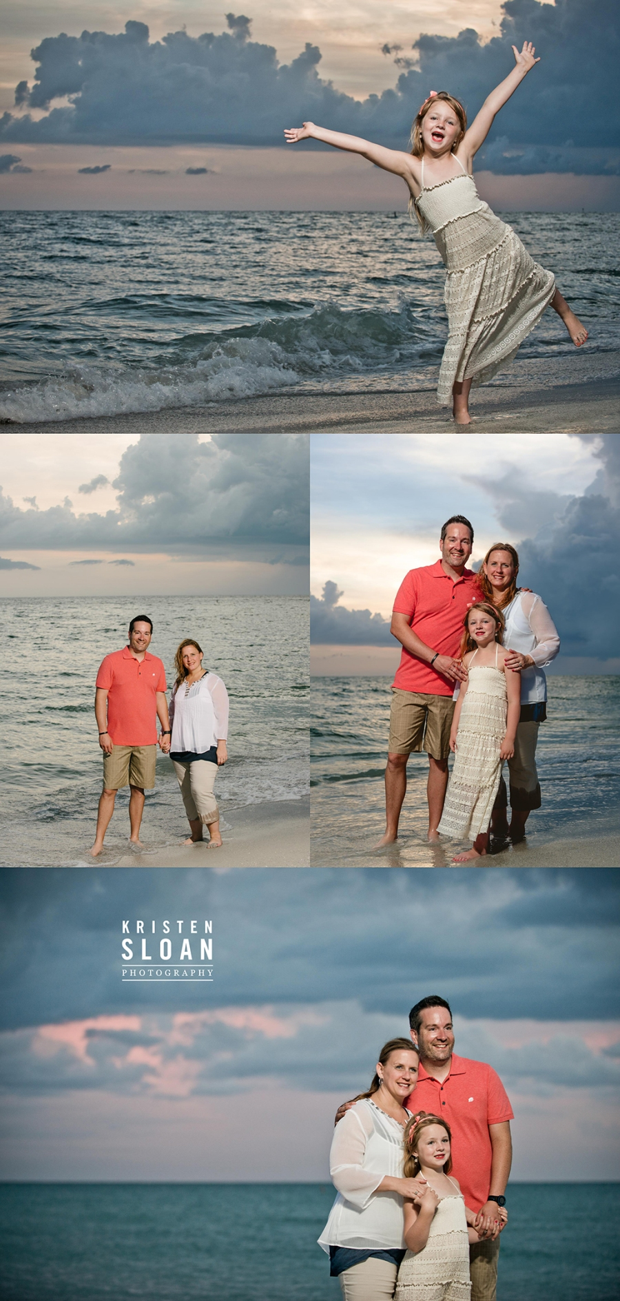 Treasure Island Beach Family Portraits after Rain