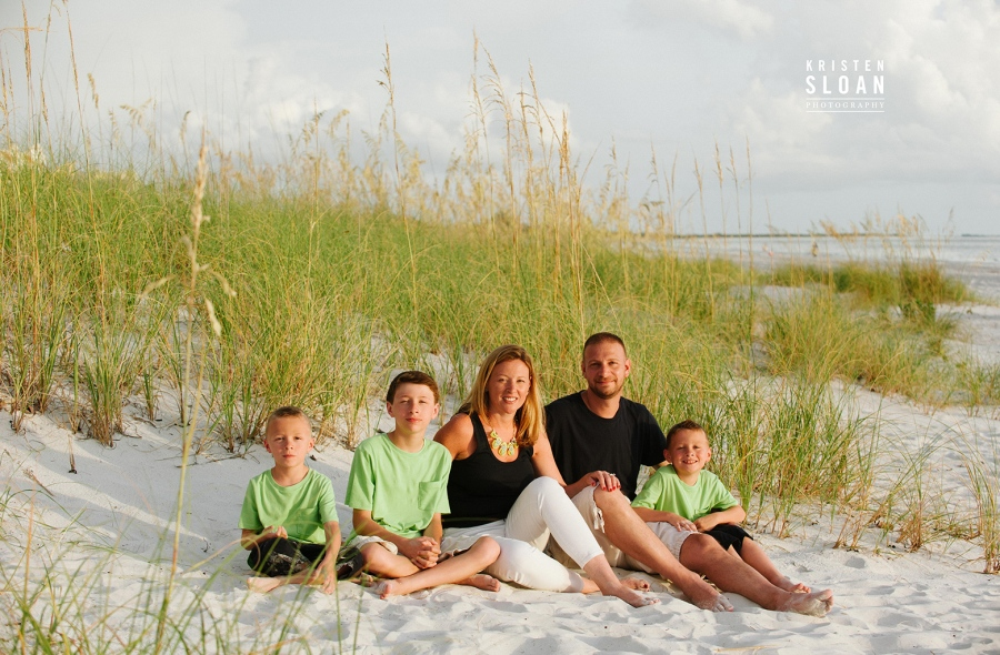 Don Cesar Hotel St Pete Beach Florida Family Sunset Portrait