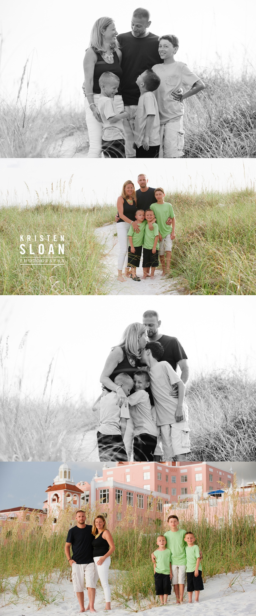 Don Cesar Beach Photos | Don Cesar Hotel Family Beach Portrait Photos | St Pete Beach Treasure Island Photographer Kristen Sloan