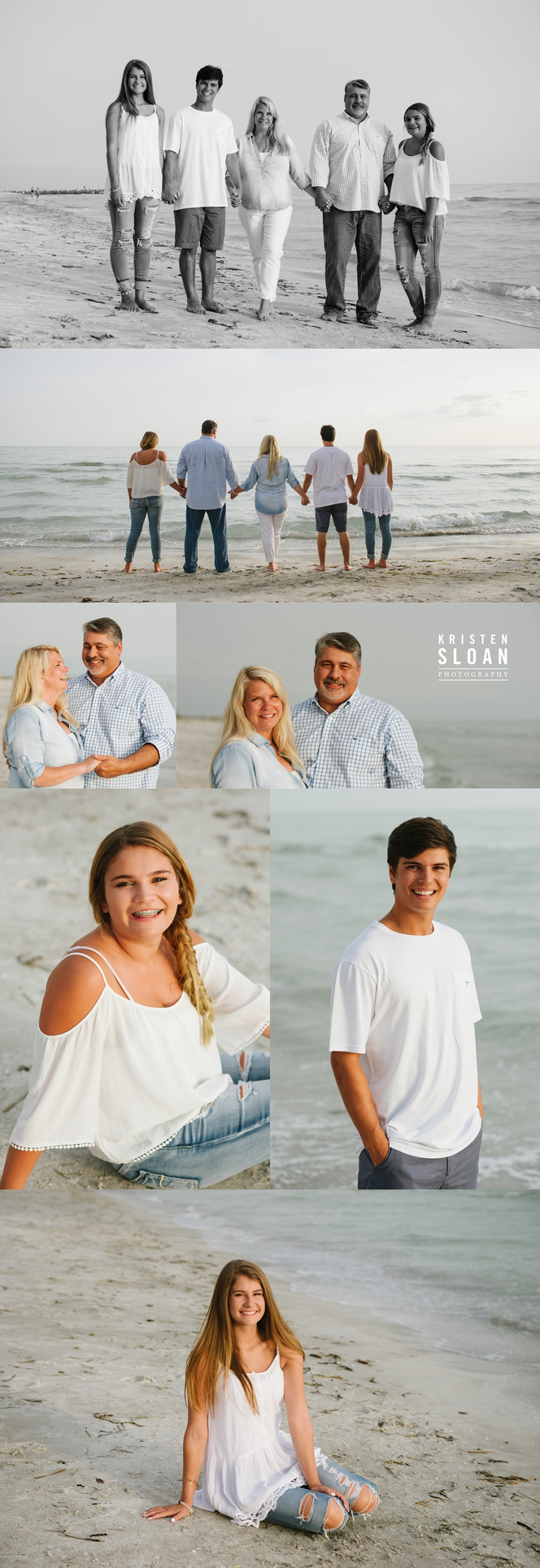 Longboat Key Sunset Family Reunion Portrait Photos by Kristen Sloan Photography
