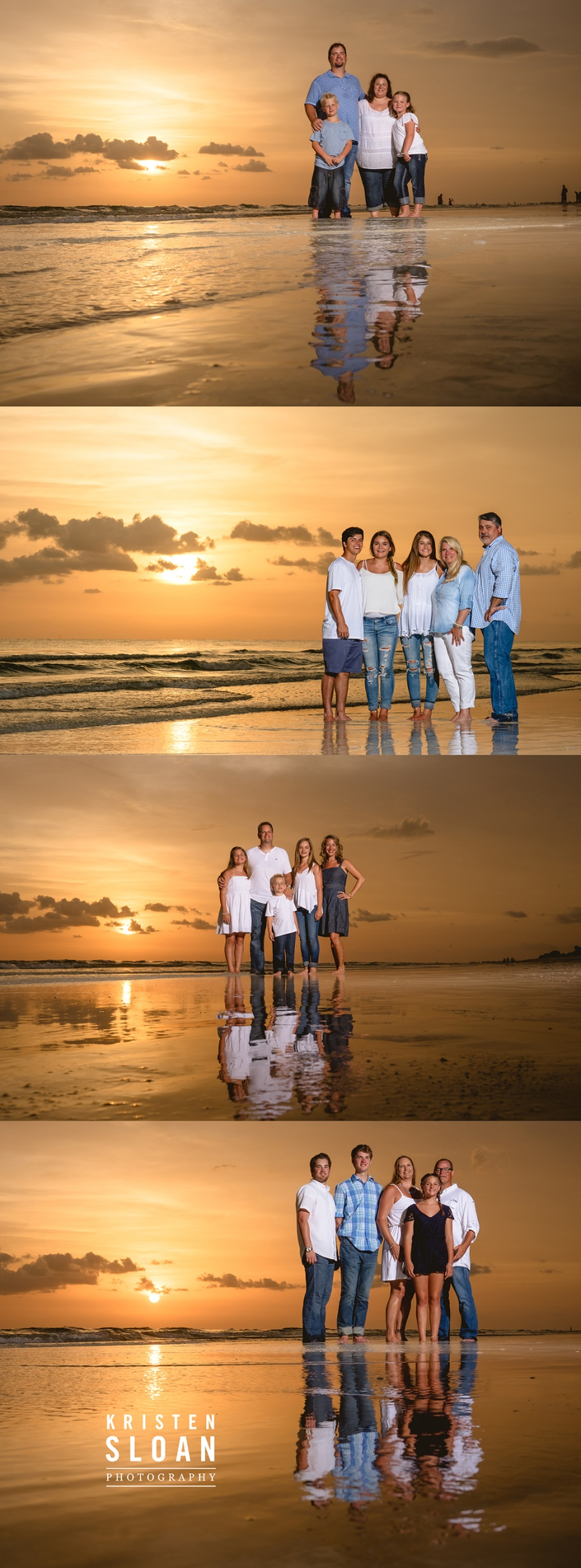 Longboat Key Florida Family Sunset Photos | Longboat Key Photographer Kristen Sloan | Anna Maria Island Photographer