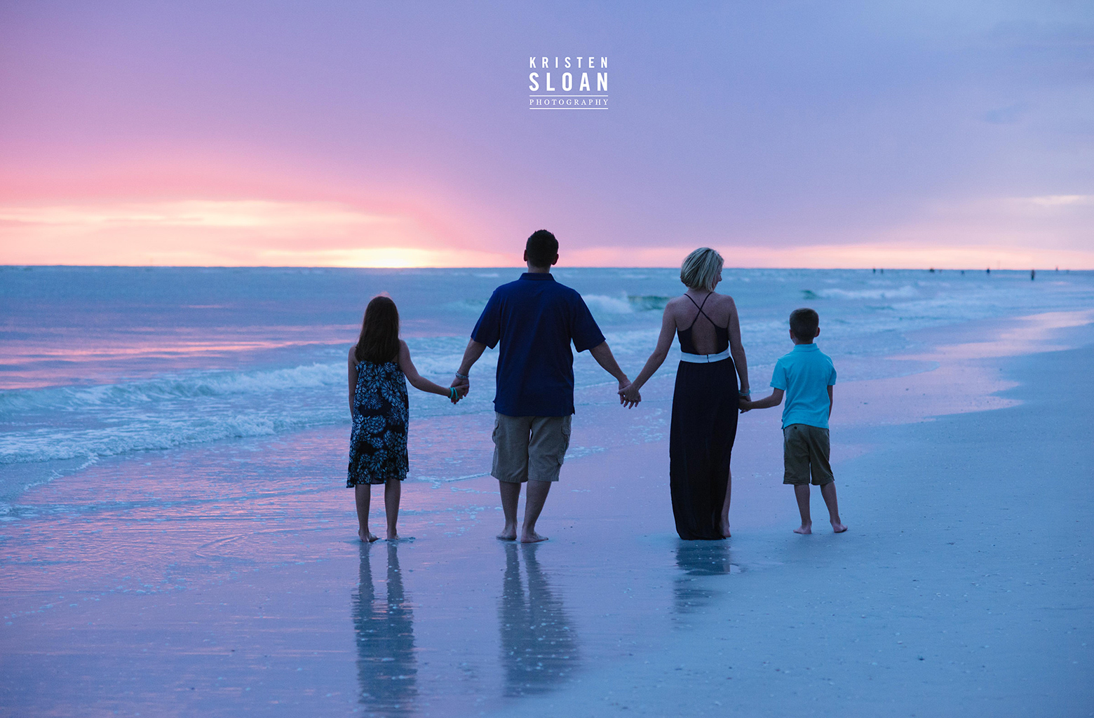 St Pete Beach Treasure Island Family Beach Photos at Sunset | Treasure Island Wedding Portrait Photographer | St Pete Beach Wedding Portrait Photographer Kristen Sloan