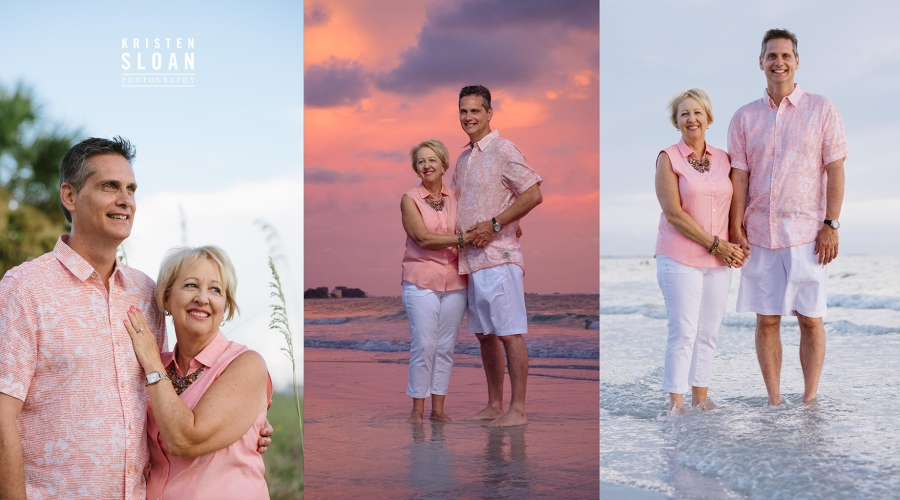 Sunset Family Beach Portraits in Treasure Island Florida