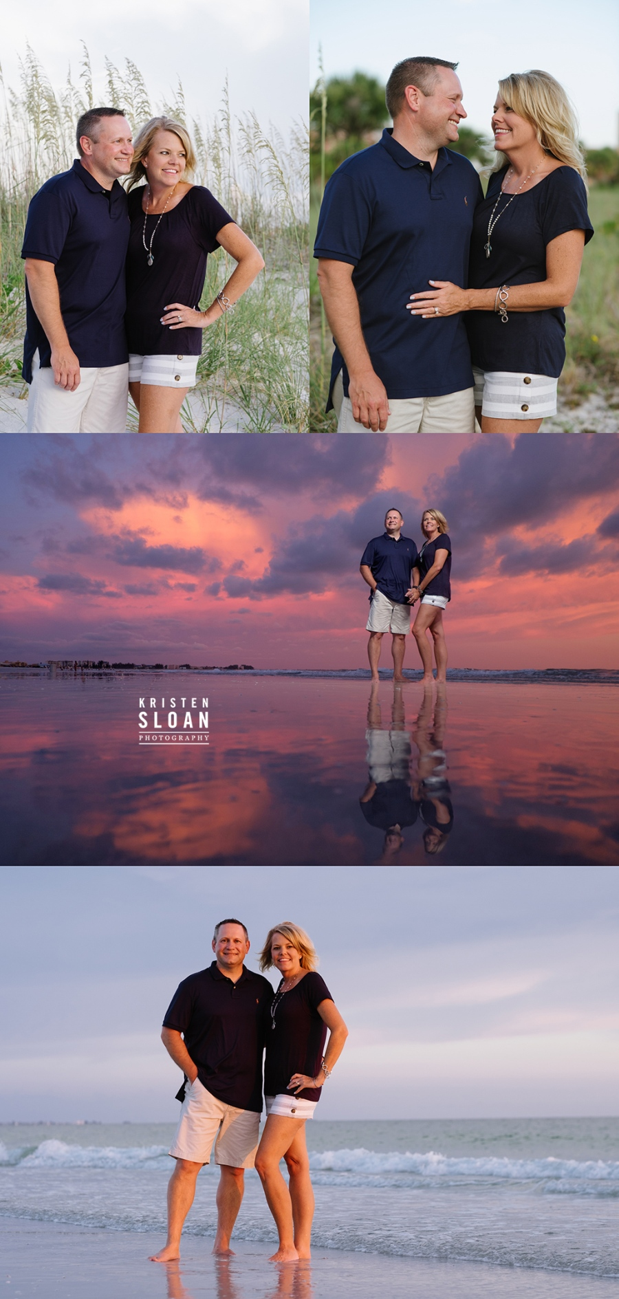 Sunset Family Beach Portraits in Treasure Island Florida
