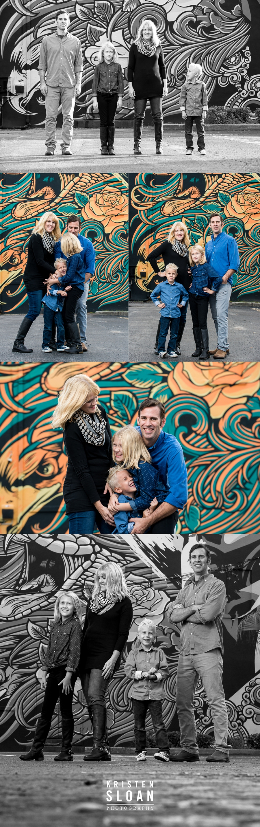 Downtown St Pete FL Family Portrait Photos by St Pete FL Photographer Kristen Sloan