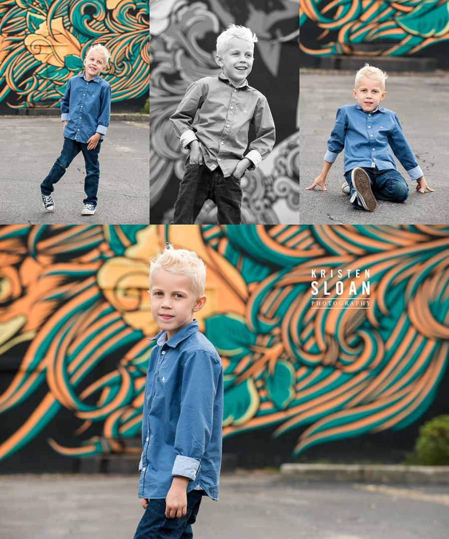 Downtown St Pete FL Family Portrait Photos by St Pete FL Photographer Kristen Sloan