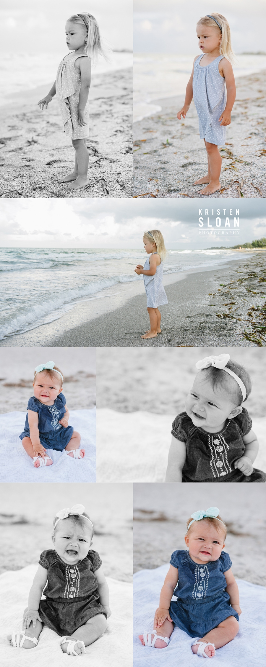 Longboat Key Little Gull Cottages Family Kids Beach Portraits by Kristen Sloan Photography
