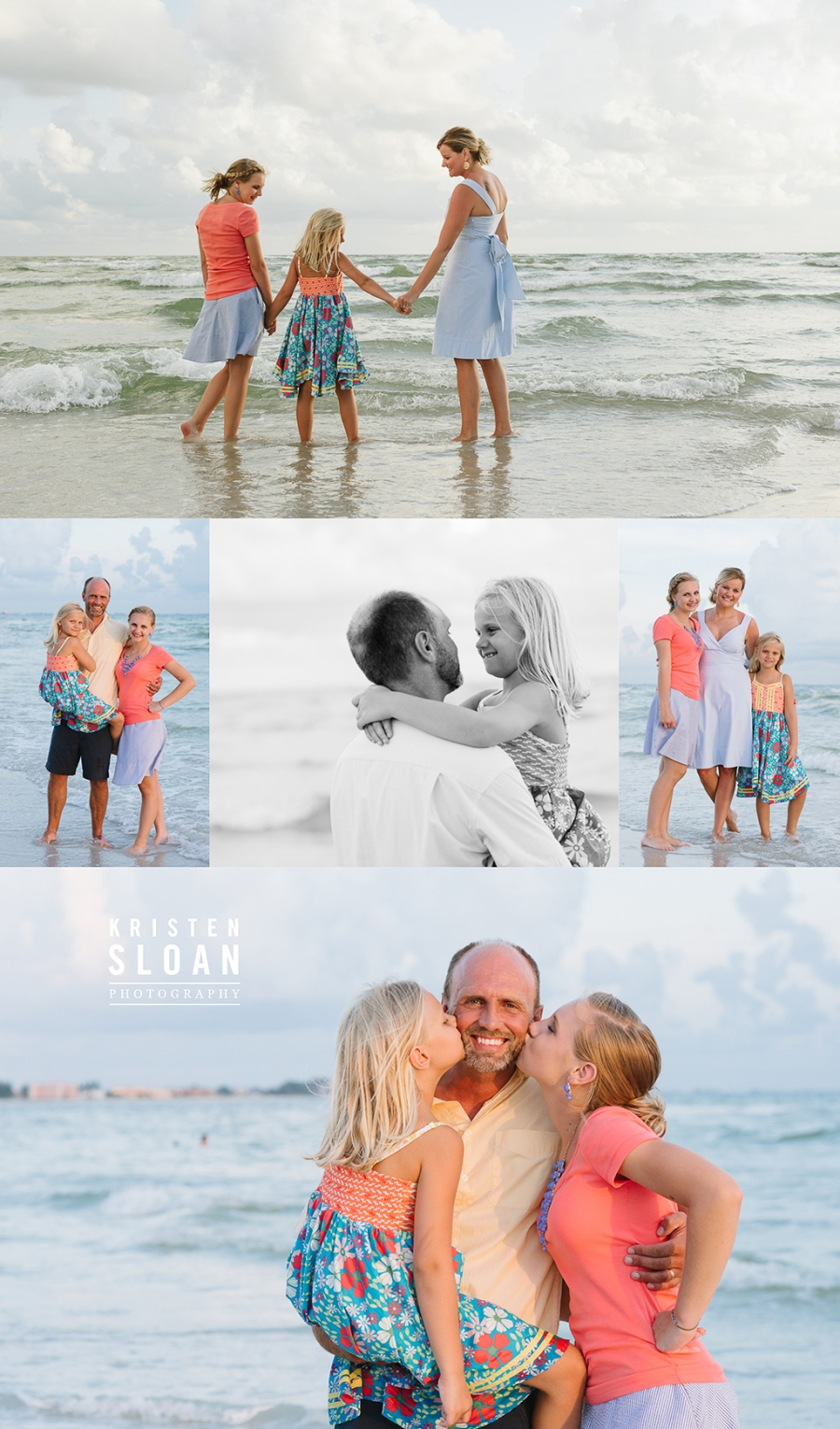 Treasure Island Florida Family Beach Sunset Photos by Kristen Sloan Photo