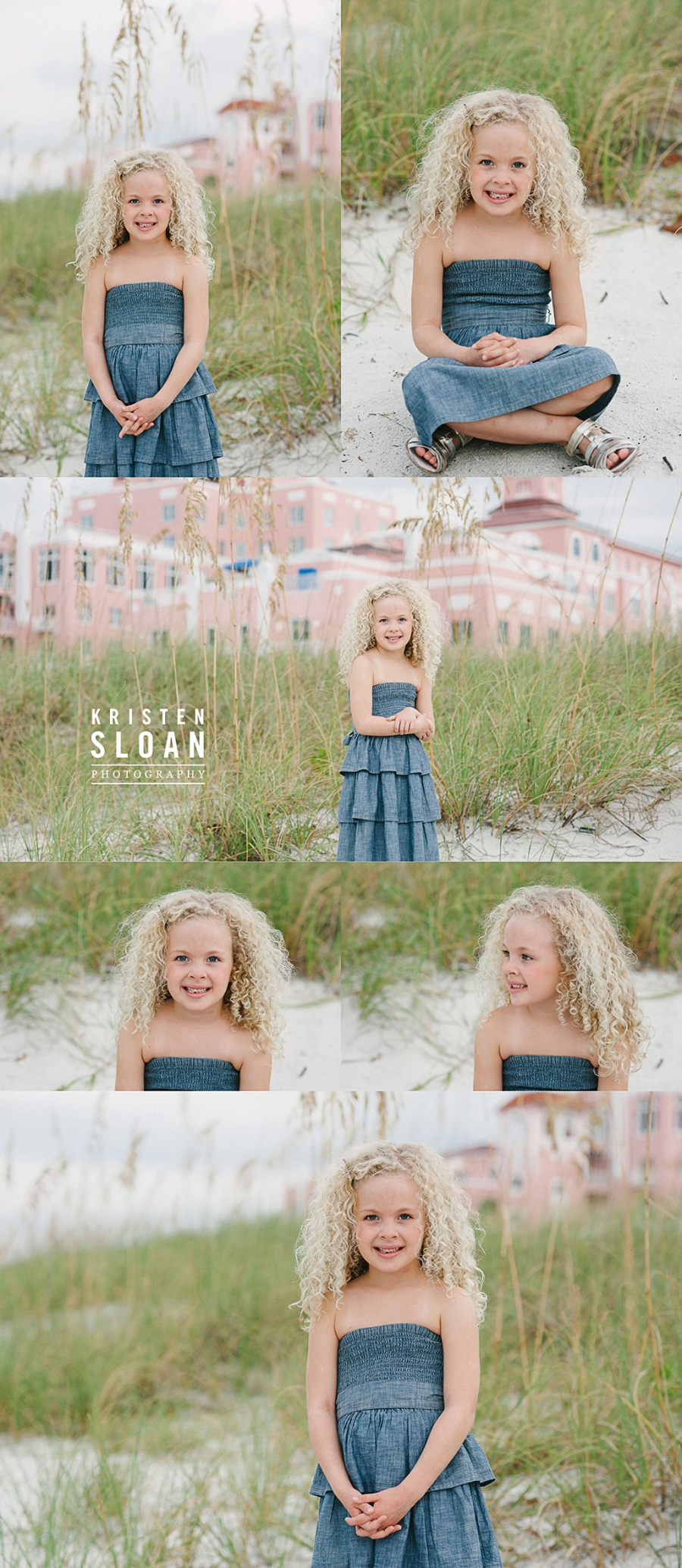 Loews Don Cesar Hotel Family Kids Beach Portrait Photos by Kristen Sloan Photography | St Pete Beach FL Photographer | Pass A Grille Beach FL Photographer