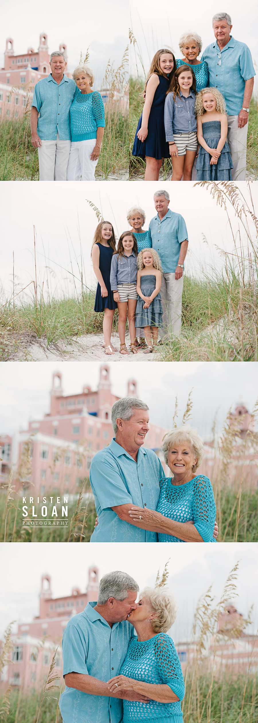 Loews Don Cesar Hotel Family Kids Couples Beach Portrait Photos by Kristen Sloan Photography | St Pete Beach FL Photographer | Pass A Grille Beach FL Photographer