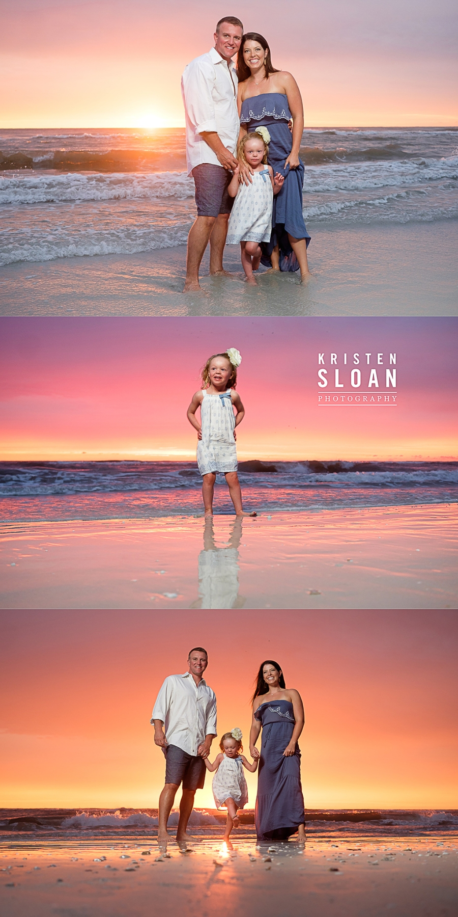 Don Cesar Hotel Beach Family Portraits at Sunset | St Pete Beach Family Portraits |Treasure Island Beach Family Photos | Pass A Grille Beach FL Photographer