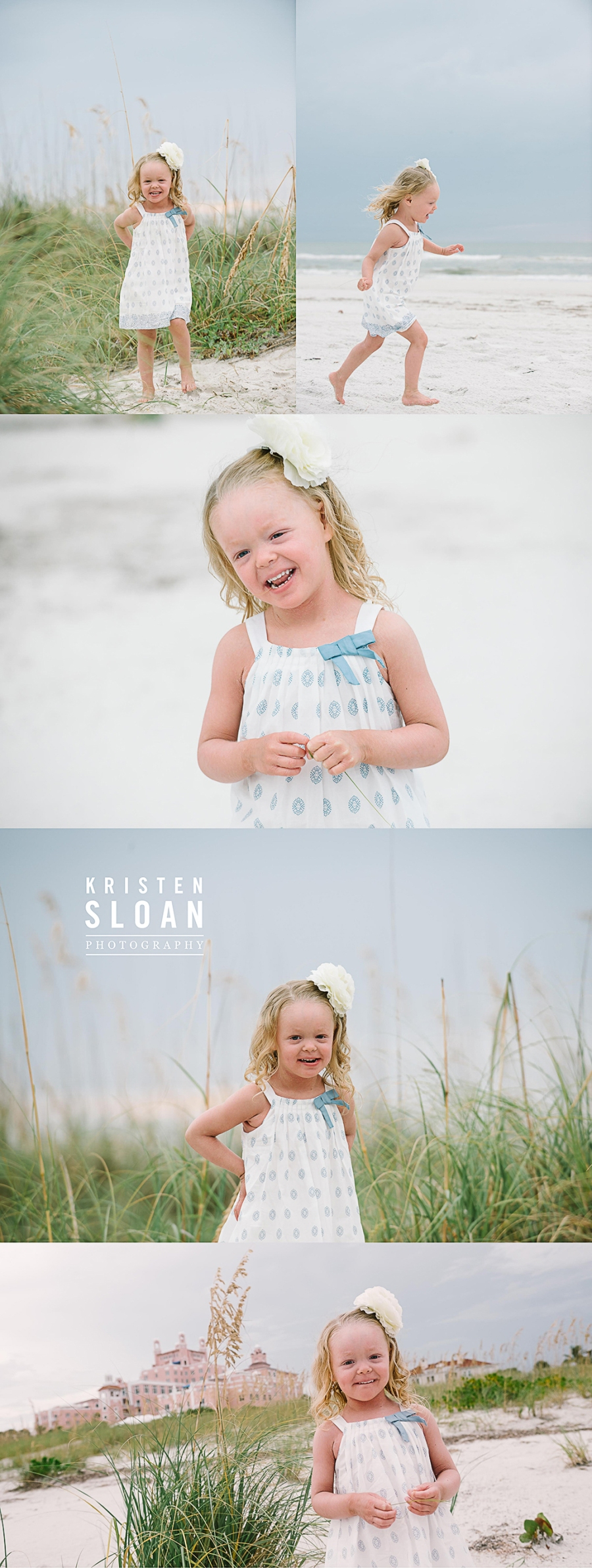 Don Cesar Hotel Beach Family Portraits at Sunset by Kristen Sloan