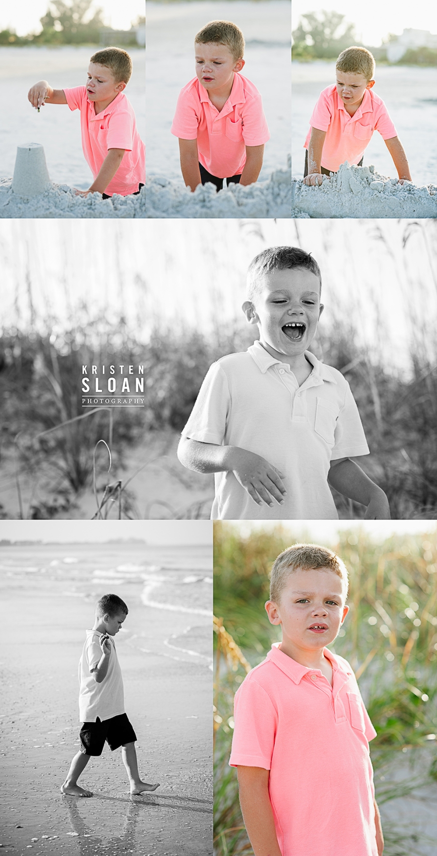 Sunset Vistas Beachfront Suites Morning Family Beach Portraits