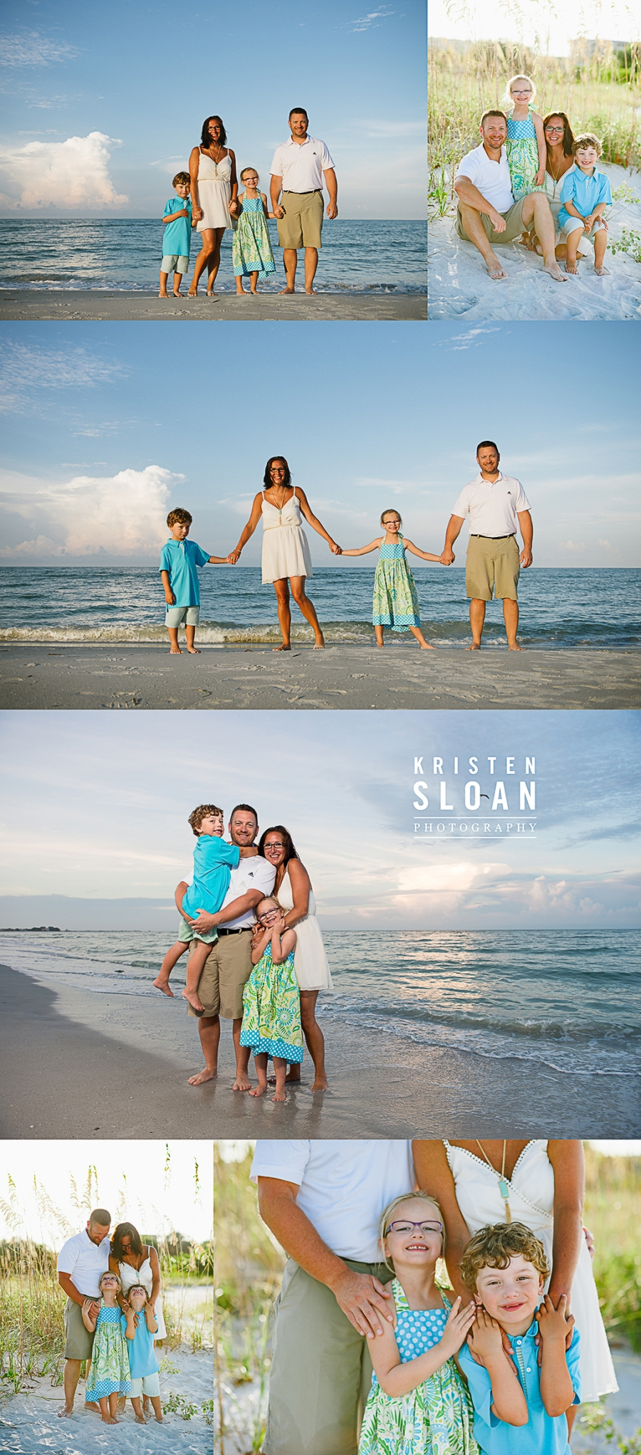 Sunset Vistas Treasure Island Morning Family Kids Beach Portraits