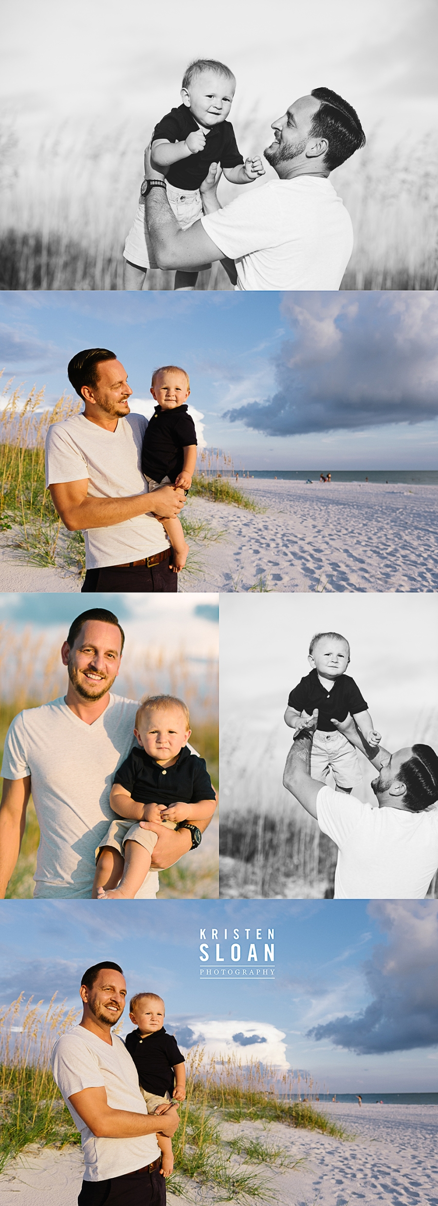 reasure Island Family Kids Baby Beach Photos at Sunset by Kristen Sloan Photography