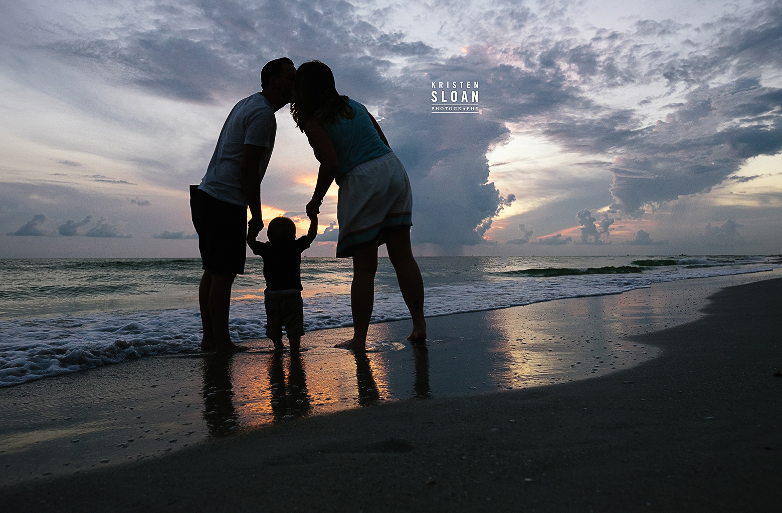 rTreasure Island Family Kids Baby Beach Photos at Sunset by Kristen Sloan Photography