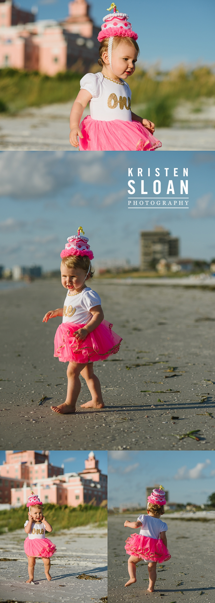 Don Cesar Beach St Pete Beach Family Kids Baby Portraits