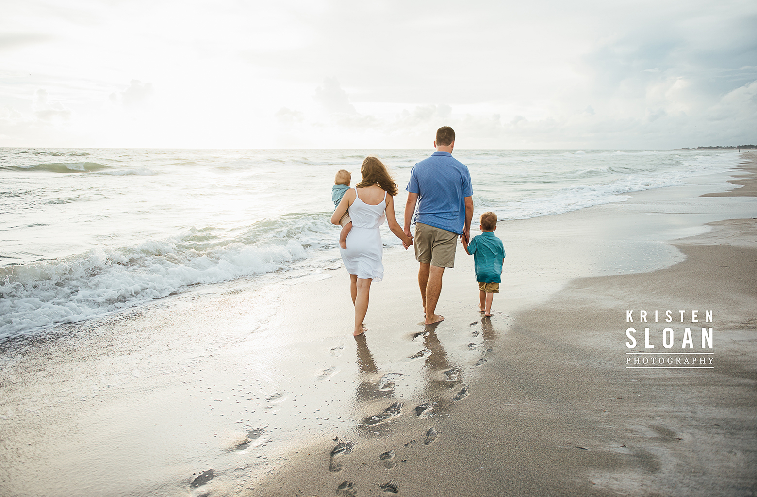 Longboat Key Kids Family Baby Beach Portrait Photos at Sunset