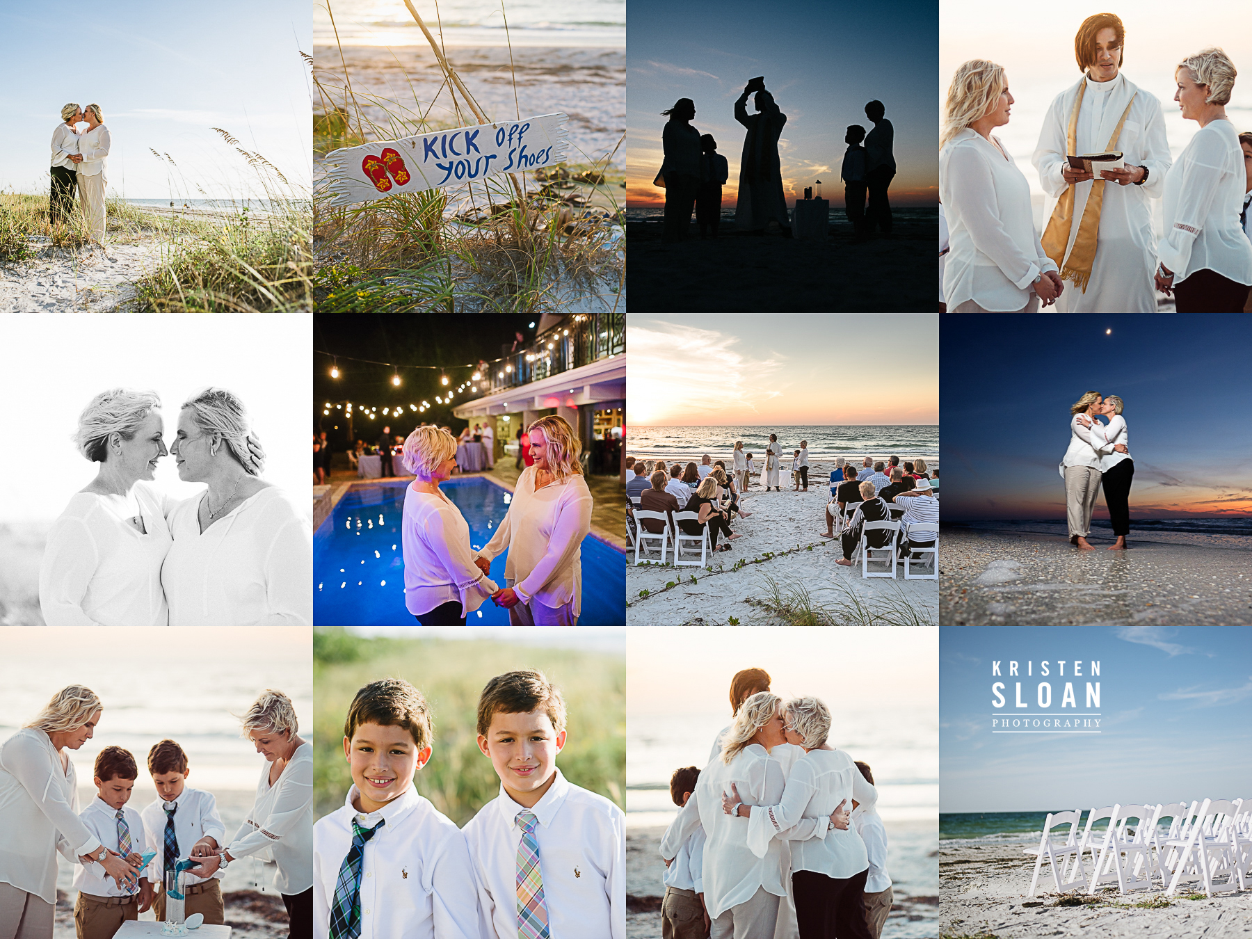 Belleair Beach Florida Wedding | Lesbian Beach Wedding | Gay Beach Wedding