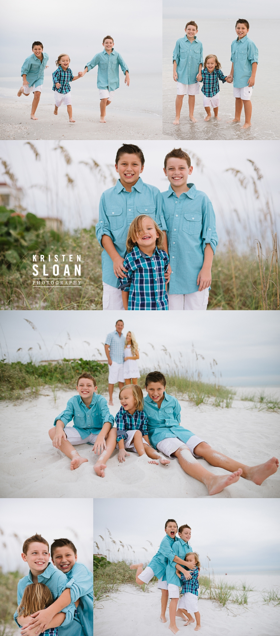 Sand Pebble Resort Condos Treasure Island Beach Family Portrait Photos at Sunset |Treasure Island FL Photographer | Gulf Coast Florida Sunset