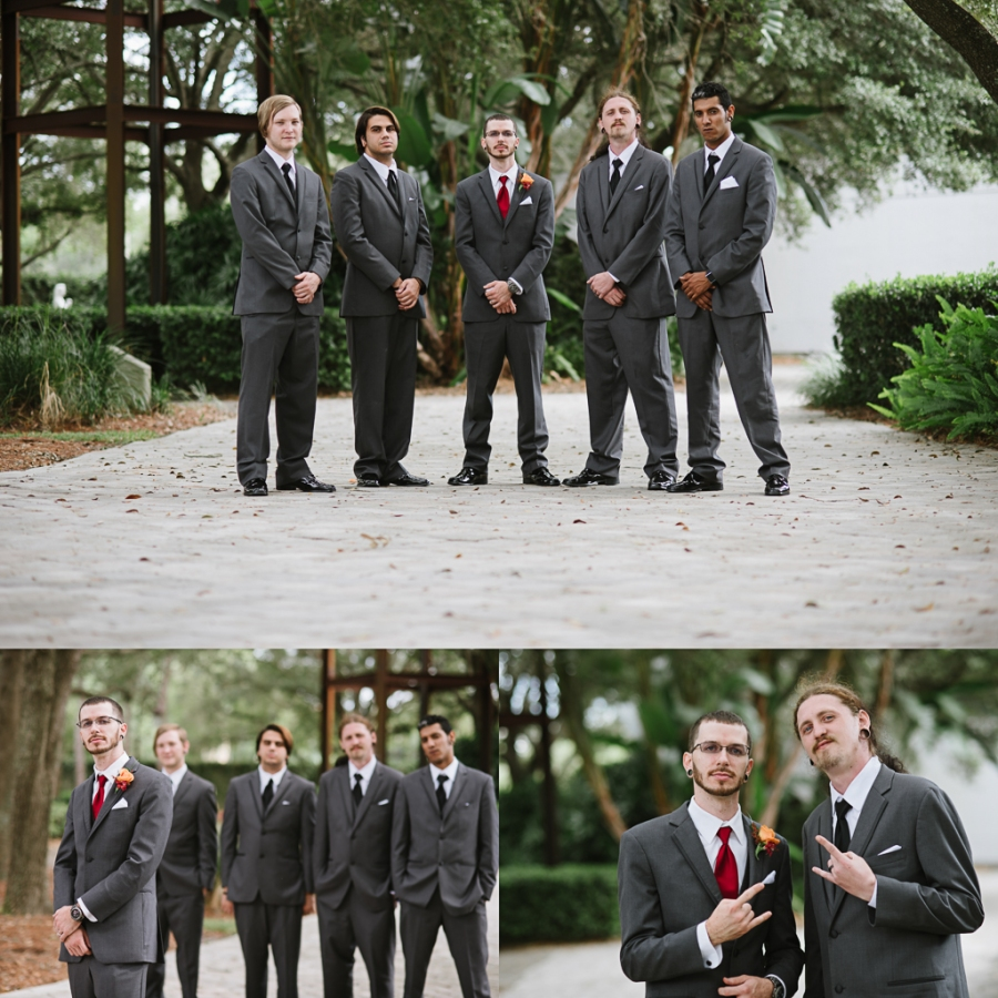 Seminole Heights United Methodist Higgins Hall Tampa Florida Wedding| Mens Wearhouse Tuxes | Grey Wedding Suit Tux