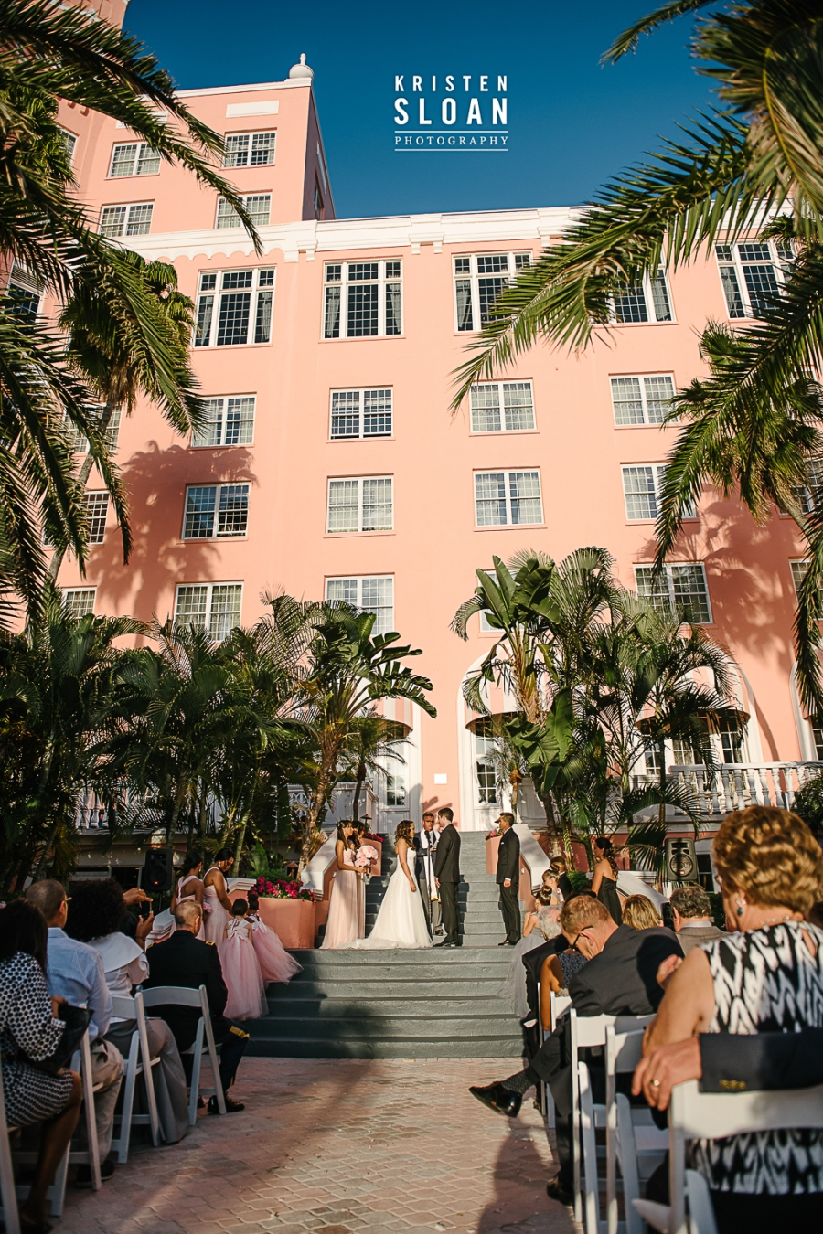 Don Cesar Hotel Wedding Ceremony Courtyard Sunset