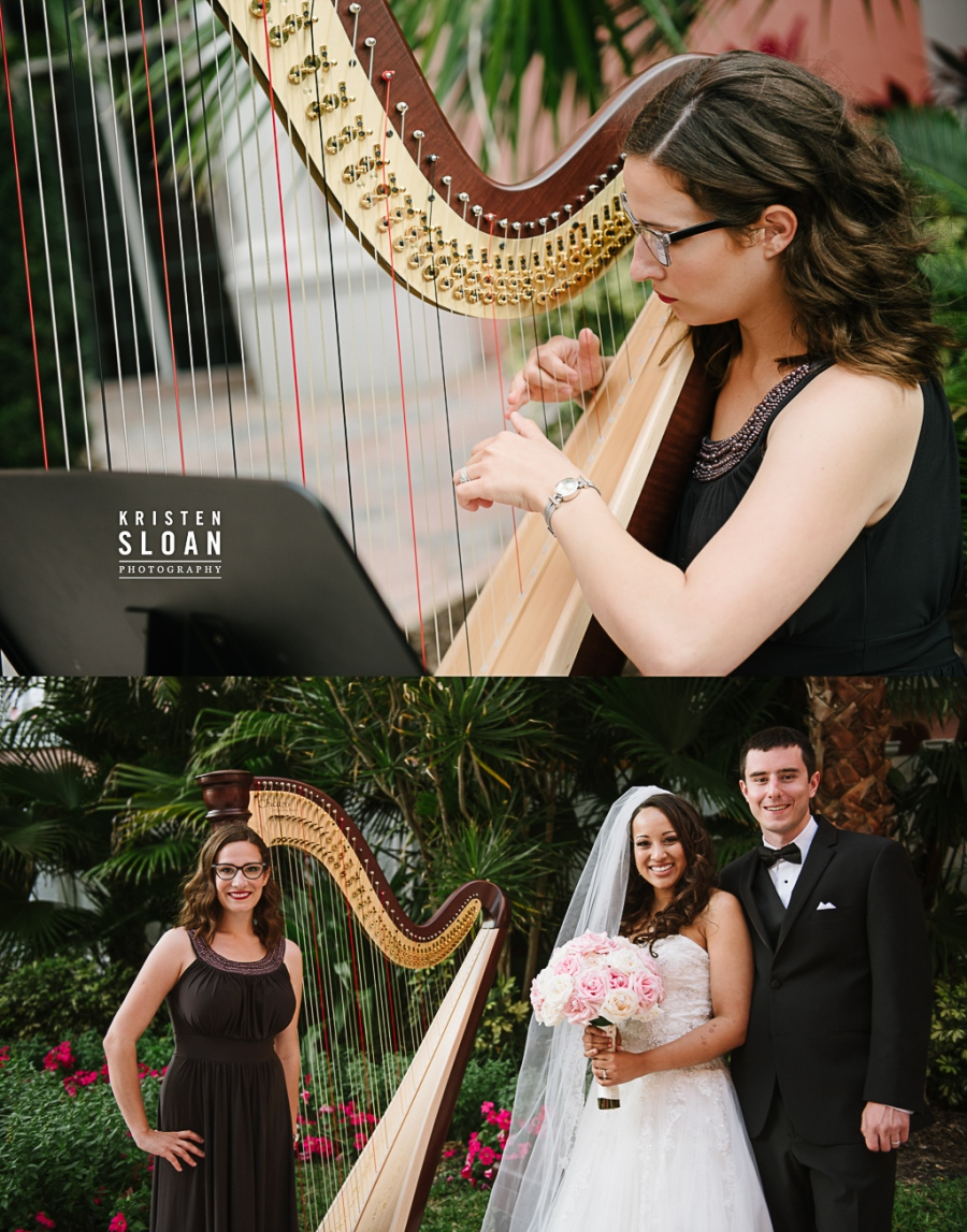 Don Cesar Wedding, Loews Don Cesar Hotel, Pass A Grille Beach Wedding, Saint Petersburg Florida Wedding Photographer, St Pete Beach Wedding Photographer, Pink Palace Wedding |Harpist Kristen Elizabeth