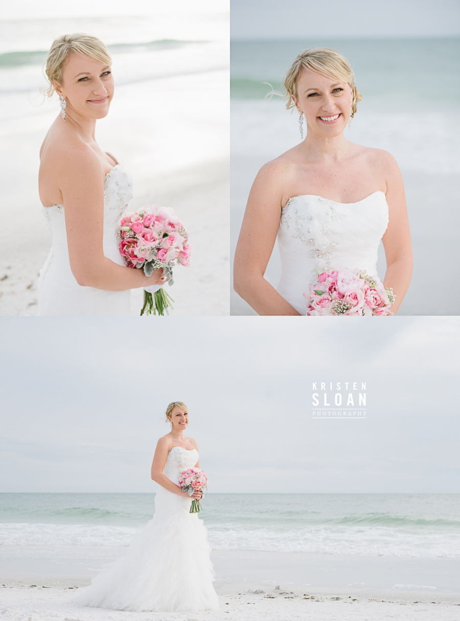 Anna Maria Island Florida Beach Wedding Photographer Kristen Sloan, Sandbar Restaurant Wedding Anna Maria Island, Beach Wedding Bride