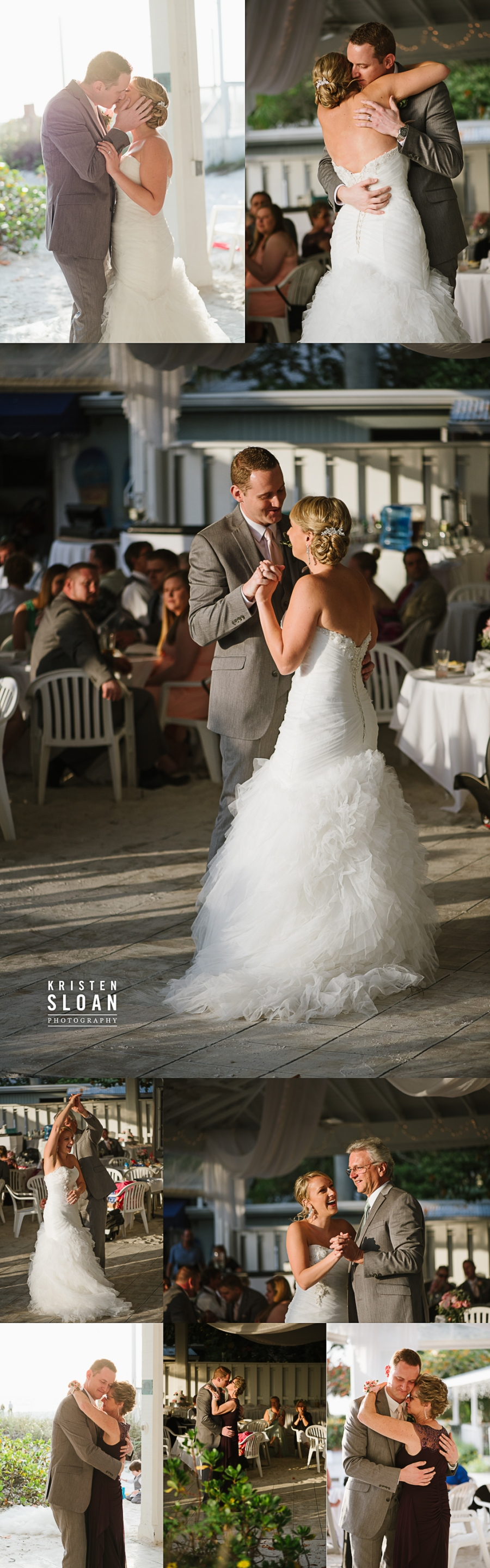 Anna Maria Island Florida Beach Wedding Photographer Kristen Sloan, Sandbar Restaurant Wedding Anna Maria Island Dancing