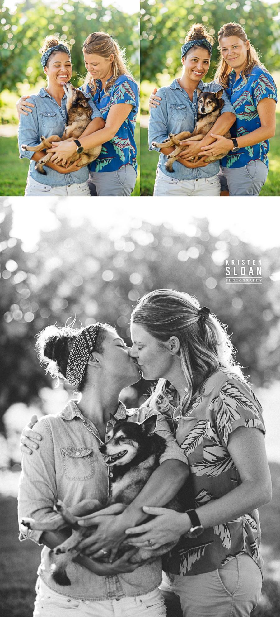 LGBT St Pete Florida Couples Portraits with Pets