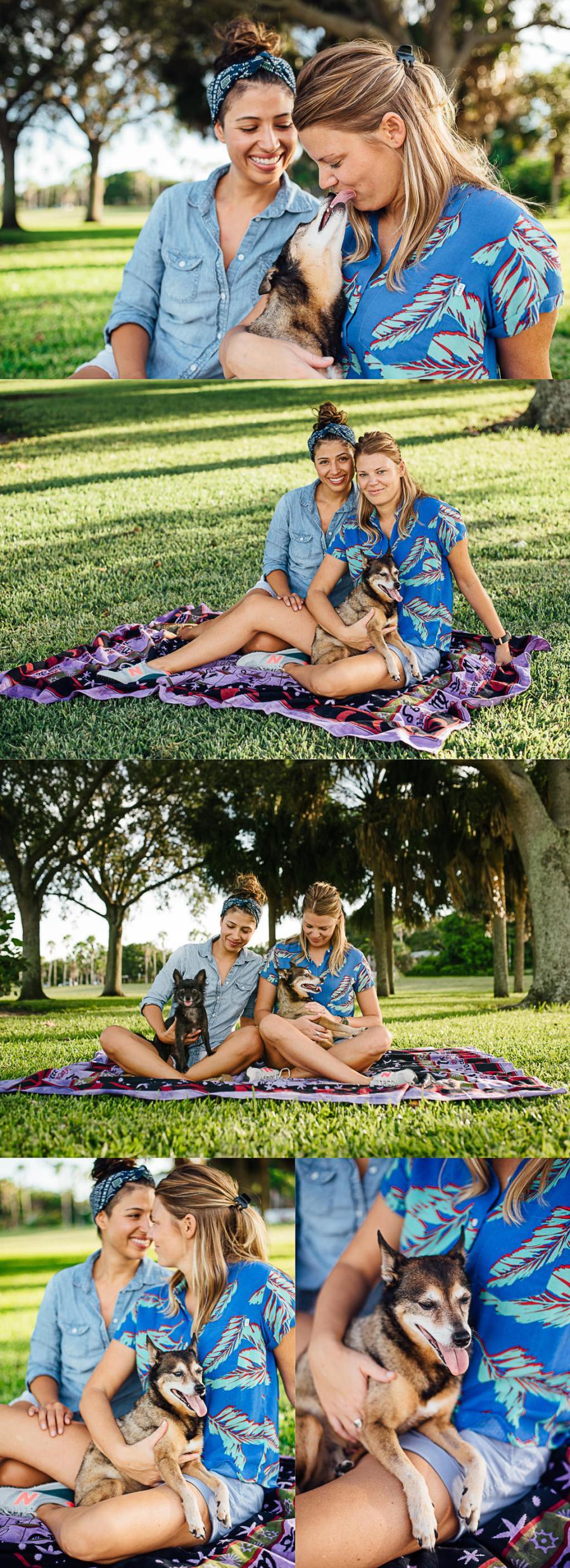 LGBT St Pete Florida Couples Pet Portraits