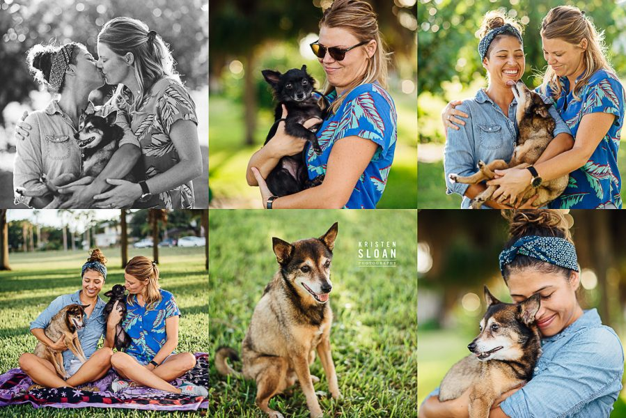 LGBT Couples Portraits with Pets in Saint Petersburg Florida